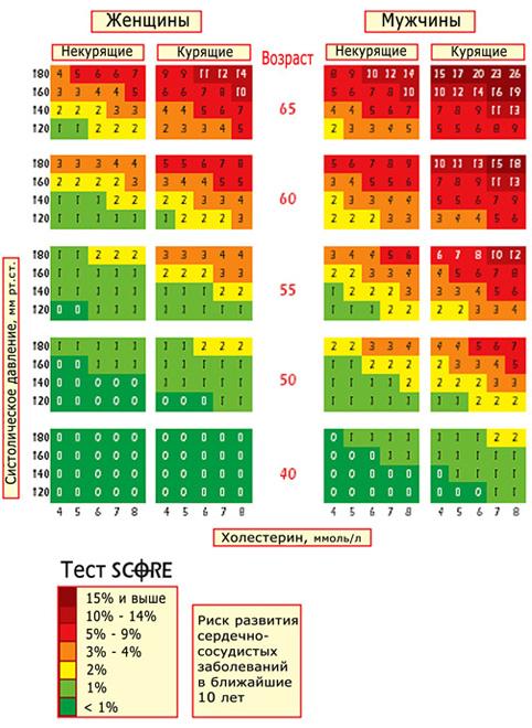 параметры холестерина в анализе крови