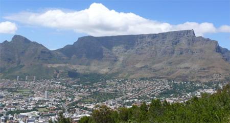 Столовая гора, Table Mountain, около города Кейптаун, Африка, ЮАР - место силы
